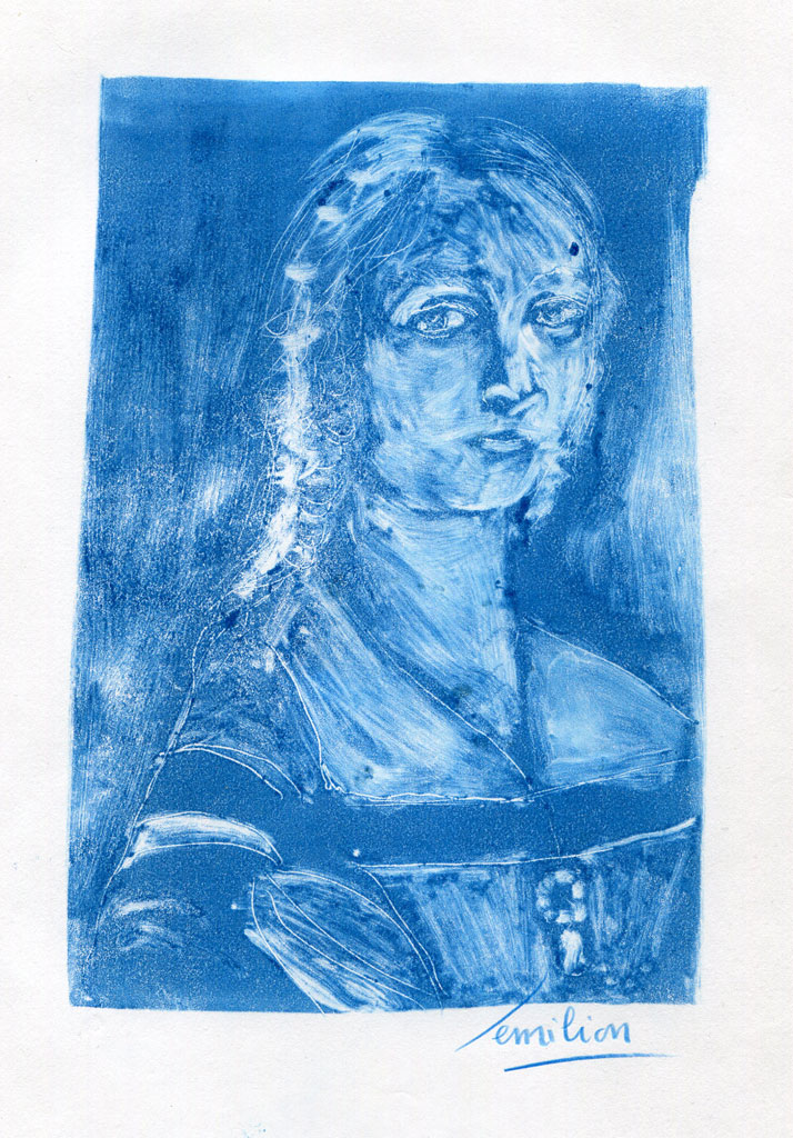 article image Monotype bleu